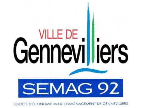 Logo de la commune de Gennevilliers et de la SEMAG 92