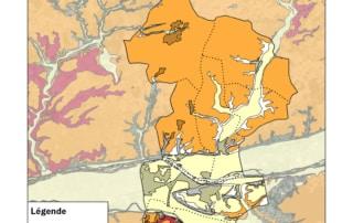 Carte du niveau d'aléa posé par la présence d'argiles dans les sols, sur le territoire de Touraine-Est Vallées