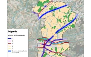Carte du classement sonore des infrastructures de transport terrestre de Touraine-Est Vallées