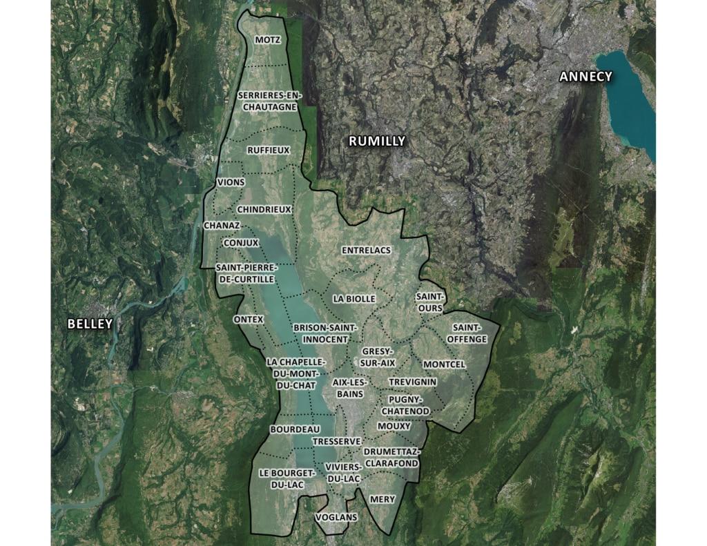 Carte des communes de Grand Lac Agglomération