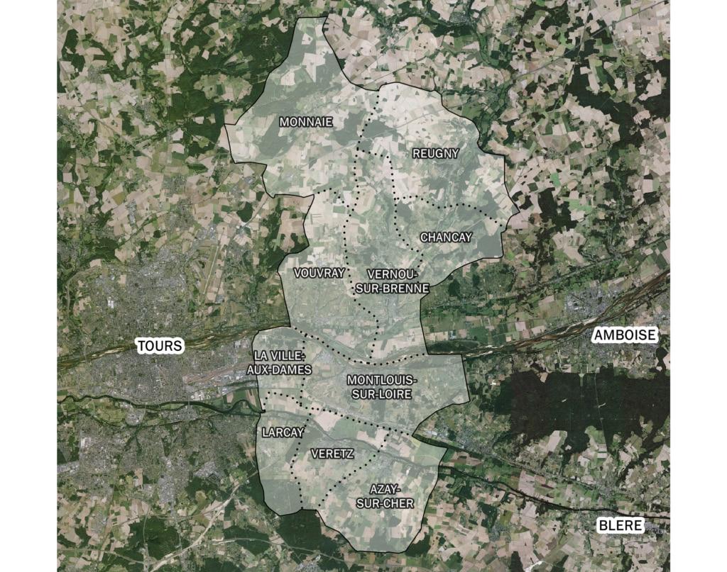 Carte des communes de Touraine-Est Vallées
