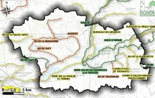 Carte de l'état des masses d'eau superficielles