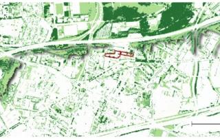 Carte des hauteurs de végétation autour des Quartiers Nord de La Courneuve