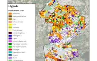 Carte du registre parcellaire graphique de Touraine-Est Vallées