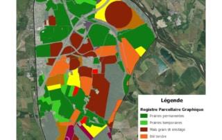 Carte du registre parcellaire graphique de Sermoise-sur-Loire