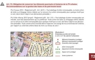 Extrait du guide, exemples de PLU protégeant des éléments paysagers au titre des continuités écologiques