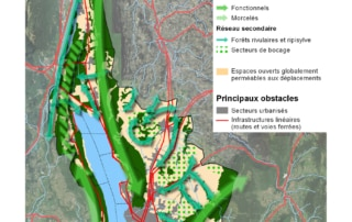 Carte des éléments de la sous-trame arborée de Grand Lac Agglomération
