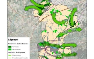 Carte des éléments de la sous-trame arborée de Touraine-Est Vallées