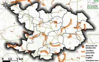 Carte des éléments de la sous-trame herbacée de la Brie Nangissienne