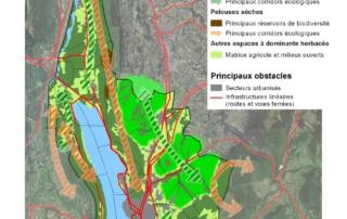 Carte des éléments de la sous-trame herbacée de Grand Lac Agglomération