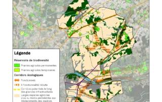 Carte des éléments de la sous-trame herbacée de Touraine-Est Vallées