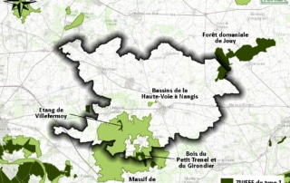 Carte des ZNIEFF de la Brie Nangissienne