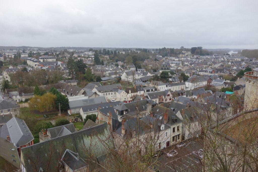 Vue surélevée de la ville d'Amboise