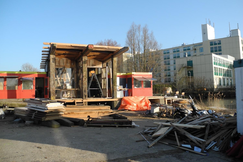 Chantier d'une construction en bois