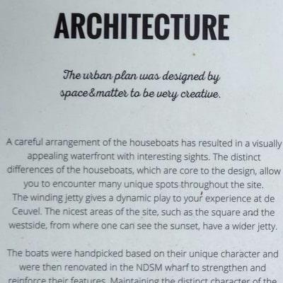 """Panneau d'information """"Architecture"""""""