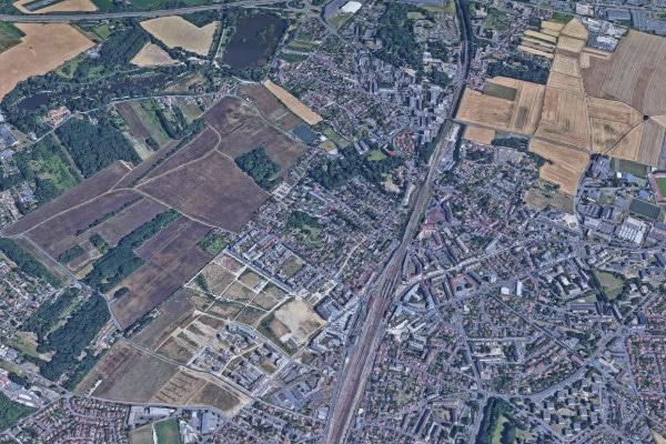 Vue aérienne de la commune de Brétigny-sur-Orge