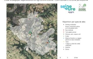 Carte des sites identifiés par les participants pour être végétalisés